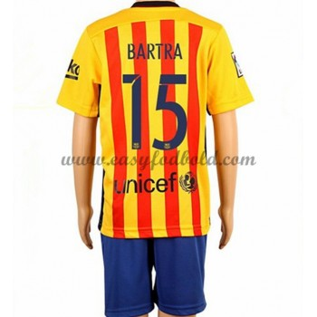 7fddff7ad60 Barcelona Børn Fodboldtrøjer 2016-17 Bartra 15 Udebanetrøje