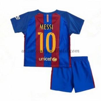 Barcelona Børn Fodboldtrøjer 2016-17 Messi 10 Hjemmetrøje