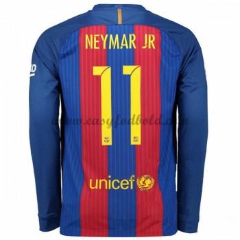 f5a732152a9 Fodboldtrøjer La Liga Barcelona 2016-17 Neymar Jr 11 Hjemmetrøje Langærmede