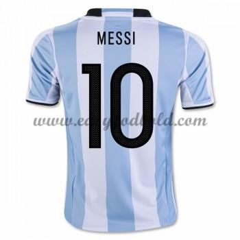 Billige Landsholdstrøjer Argentina 2016 Lionel Messi 10 Hjemmetrøje