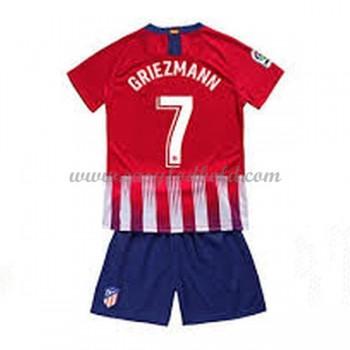 Atletico Madrid Børn Fodboldtrøjer 2018-19 Antoine Griezmann 7 Hjemmetrøje