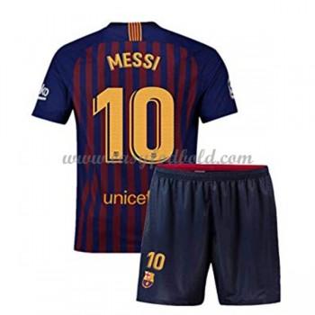 Barcelona Børn Fodboldtrøjer 2018-19 Lionel Messi 10 Hjemmetrøje