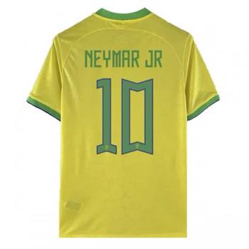 Fodboldtrøjer VM 2018 Brasilien Neymar JR 10 Hjemmebanetrøjer