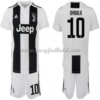 Juventus Børn Fodboldtrøjer 2018-19 Paulo Dybala 10 Hjemmetrøje