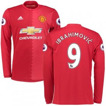 Fodboldtrøjer Premier League Manchester United 2016-17 Zlatan Ibrahimovic 9 Hjemmetrøje Langærmede