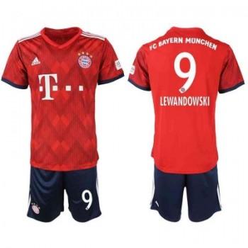 Bayern München Børn Fodboldtrøjer 2018-19 Robert Lewandowski 9 Hjemmetrøje